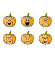 halloween face pumpkins vector image