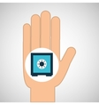 hand concept box safe money vector image