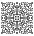 hand drawn mandala oriental decorative vector image