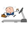 happy businessman cartoon character running vector image