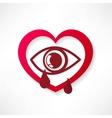 heart eye design vector image vector image