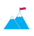 hight sharp snow covered blue mountains with red vector image