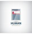 human resources resume career finder cv vector image