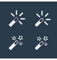 Magic wand flat icons vector image