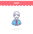 male profile icon vector image vector image