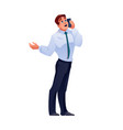 man talking on phone businessman call on mobile vector image