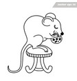 mouse or rat with biscuit sitting on chair vector image vector image
