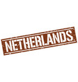 netherlands brown square stamp vector image vector image