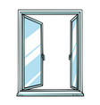 open window template view vector image
