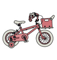 Pink child bike vector image