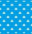 pizza menu pattern seamless blue vector image vector image