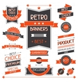 retro banners set labels and stickers vector image