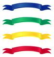 ribbon callouts vector image vector image