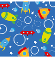 rockets background vector image
