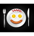 Scramled eggs vector image vector image