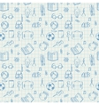Seamless school pattern doodles on math paper vector image vector image