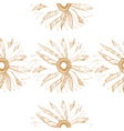 seamless vintage pattern with cute flower vector image vector image