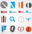 Set of alphabet symbols of letter I vector image vector image