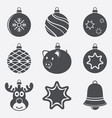 set of christmas balls icons vector image