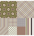set seamless geometric patterns i vector image