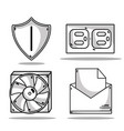 set technology data center service vector image vector image