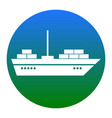 ship sign white icon in vector image vector image