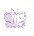 silhouette beauty butterfly animal with wings vector image