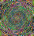 Simple multicolor fractal spiral background vector image vector image