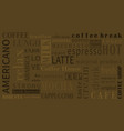 sorts coffee background with different vector image