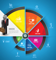 step circle icons with business man vector image vector image