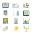 Stock flat icons Exchange signs and finance vector image