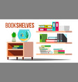 storage shelves document book office vector image