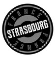 strasbourg stamp on white vector image vector image