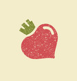 stylized flat icon of a beetroot vector image vector image