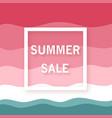 summer sale banner minimalist watermelon vector image