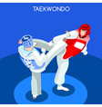 Taekwondo 2016 Summer Games 3D Isometric vector image vector image