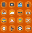 Travel Flat Icon Set vector image vector image