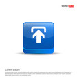upload icon - 3d blue button vector image
