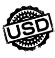 usd rubber stamp vector image vector image