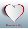 Valentine heart on a gradient background Cut out vector image