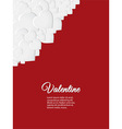 Valentine red card with white hearts vector image vector image
