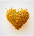valentines yellow heart love concept vector image vector image