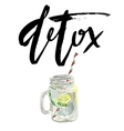 vegan detox smoothie Hand vector image vector image