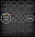 Vintage Frame and Label Collection on Chalkboard vector image