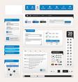 web design element template a set design vector image vector image