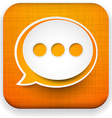 Web linen app speech bubble icon vector image vector image