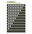 White loading bars