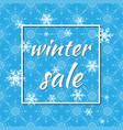 winter sale winter vector image