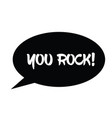 you rock stamp on white vector image vector image