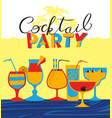 cocktail party holiday invitation background with vector image